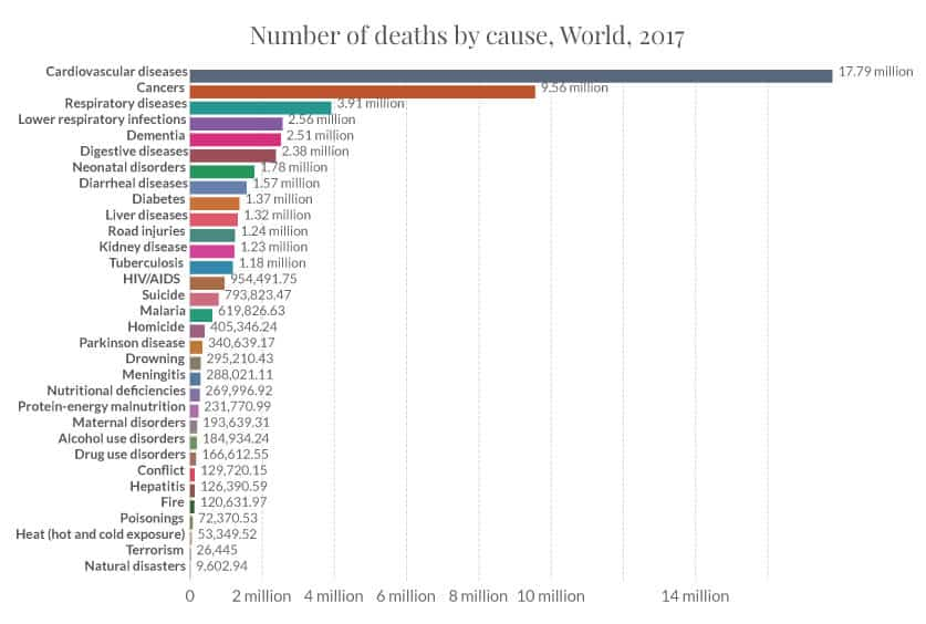 Annual Number of Deaths by Cause | Bring You Health